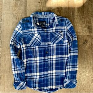 Boys Lucky Brand Blue&White Flannel Top